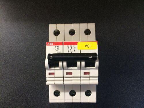 ABB S283 C-50 Amp 3 Pole//Phase Circuit Breaker Electrical