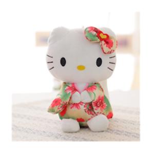 Hello-Kitty-kimono-7-039-20cm-plush-doll-stuffed-toy-green-birthday-gift