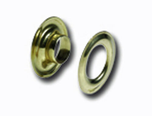 "#2  Solid Brass Grommets 10//pk   3//8/"" 10mm Tandy Leather 1283-01"