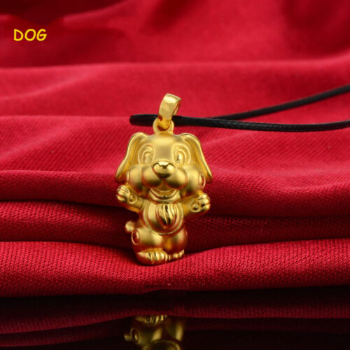 Amazing 3D Gold Plated Chinese 12 Zodiac Pendant Necklace Nice Birthday Gift
