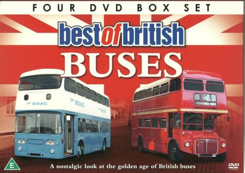 1 of 1 - BEST OF BRITISH BUSES - 4 DVD BOX SET BELFAST, GLASGOW LONDON & MORE (BRITAIN)