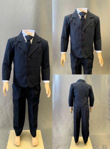 Navy Blue Toddler Teen Boy Wedding Recital Birthday Elegant Tuxedo Size S-20