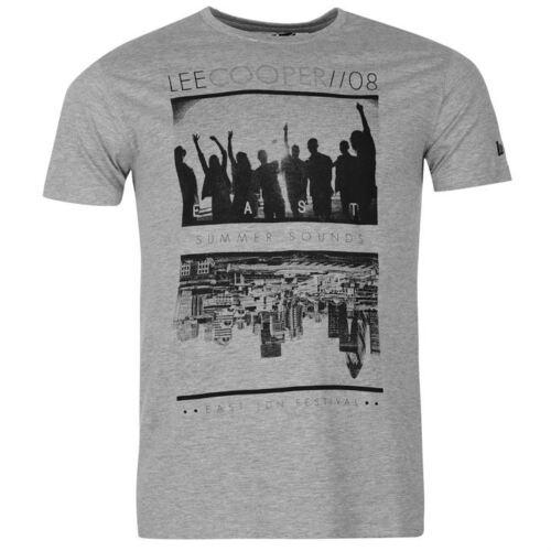 Lee Cooper Print Summer T Shirt Mens TShirt Mens SUMMER TOP  SIZE M--2XL