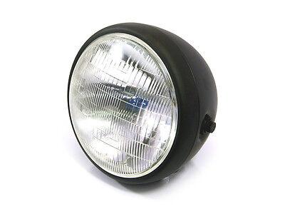 """7.7"""" Matte Black Steel 12v 55W H4 Headlight for BMW Boxer Cafe Racer / Scrambler"""