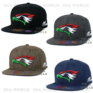 24622766 Details about Mexican hat Hecho En Mexico Eagle Aguila Twill Snapback Flat  bill Baseball cap