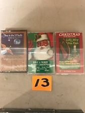 (3) NEW SEALED Assorted Christmas Music Cassette Tapes  (G) (13)