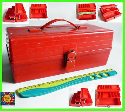 Ausdauernd Alte Werkzeugkiste Plastik Angelkasten Kasten Angelkiste Alt 70er 70s 80er