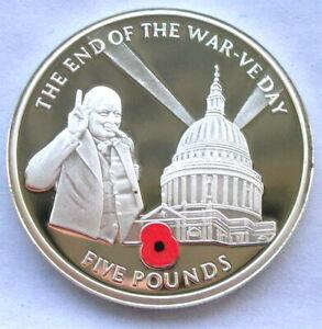 Gibraltar 2005 Churchill Crown Silver Coin,Proof