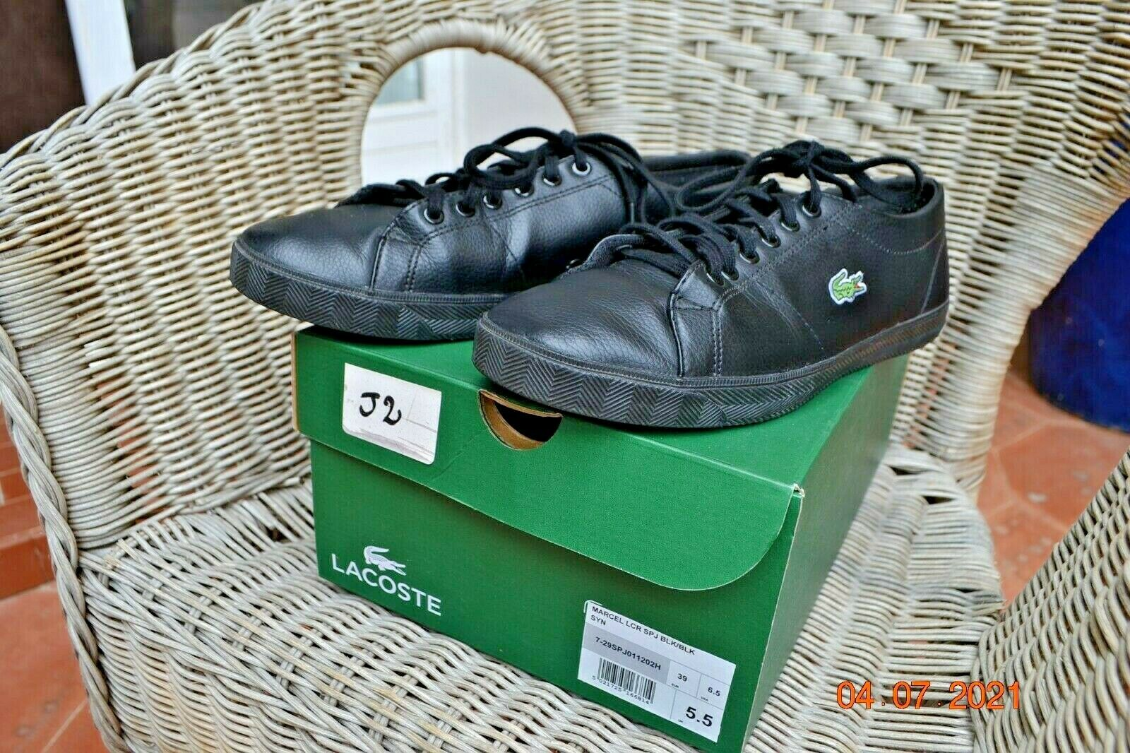 Mens shoes lacoste marcel lcr with her box. detail in listing.