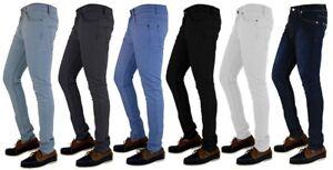 Mens-Skinny-Jeans-Slim-Fit-Super-Stretch-Denim-Trouser-Chinos-Regular-Short-Long