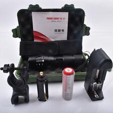 XMLT6 LED 18650 Blaze Flashlight+Battery+Charger+Case+Bicycle stand