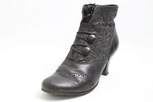Caprice-Stiefeletten-schwarz-Leder-Barock-Stil-Vario-Lyralochung-Gr-38-UK-5