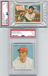 1954-Topps-Scoop-BABE-RUTH-1933-Goudey-MONTE-WEAVER-PSA-EX-5-Graded-Card-Lot