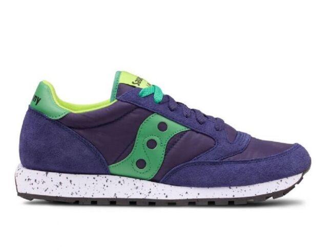 SAUCONY scarpe sneaker uomo JAZZ ORIGINAL S2044 457 blu navy e verde