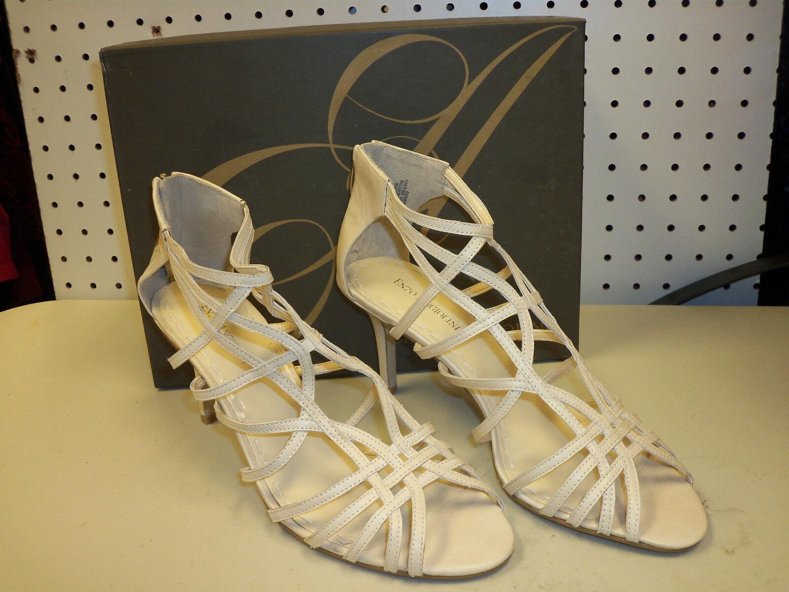 Enzo Angiolini New Heels Damenschuhe Ennes Weiß Strappy Heels New Schuhes 9.5 M ef2efa