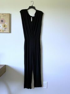 Medium-MICHAEL-STARS-Womans-Black-Cap-Sleeve-Jumpsuit