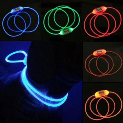 Night Dog LED Adjustable Tag Pet Collar Necklace Luminous