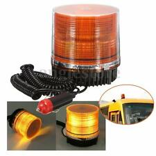 Car Truck Bus Magnetic Beacon Strobe Emergency Warning Flash Light Amber 12V LED