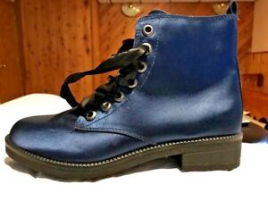Dirty-Laundry-ankle-boots-size-7-5-Blue-satin