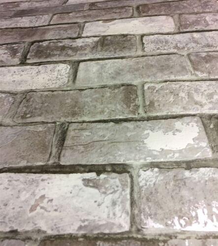 Weathered Brick Wallpaper 3D Effect Slate Stone Realistic Debona x 3 Rolls