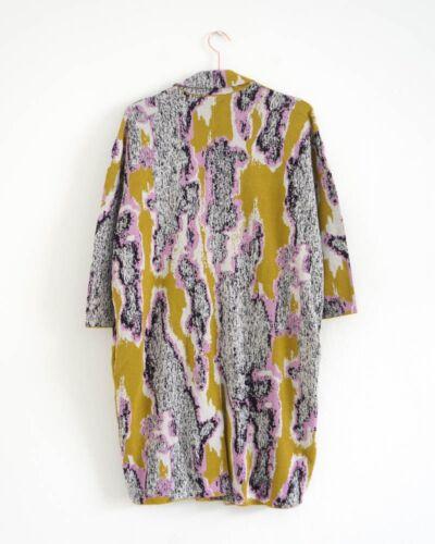 HOF115:COS Strickjacke jacquard baumwolle Cardigan with lapels cotton print L