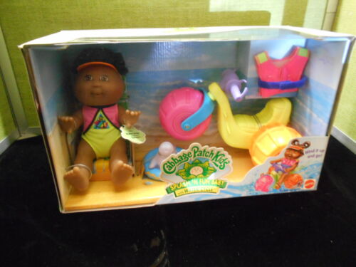 "1997 cabbage patch kids doll splash "" N fun baby with water cycle MIP"