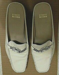 STUART-WEITZMAN-WOMEN-039-S-CREAM-PATENT-LEATHER-SLIP-ON-LOAFER-Size-8-1-2-M