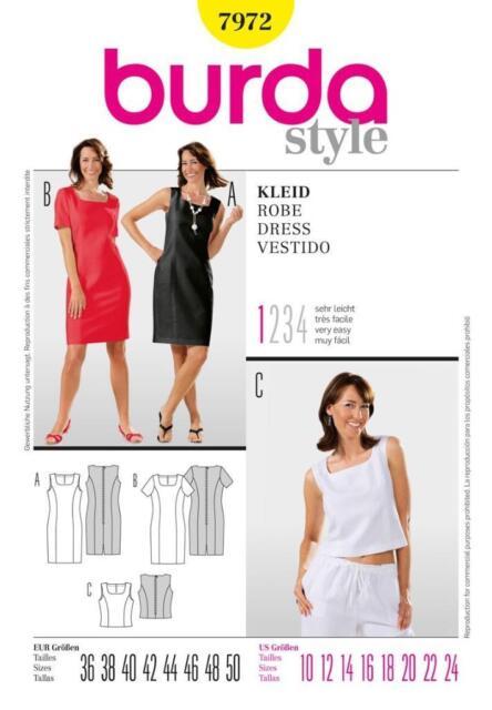 Schnittmuster Burda 7972 Kleid Gr. 36-50 | eBay