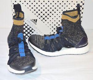 brand new ea44b d025c New $270 Adidas Ultra Boost X Mid Stella McCartney Legend Blue/Gold ...