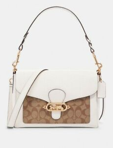 NWT-Coach-Jade-Messenger-With-Signature-Canvas-Detail-Comparable-Value-398