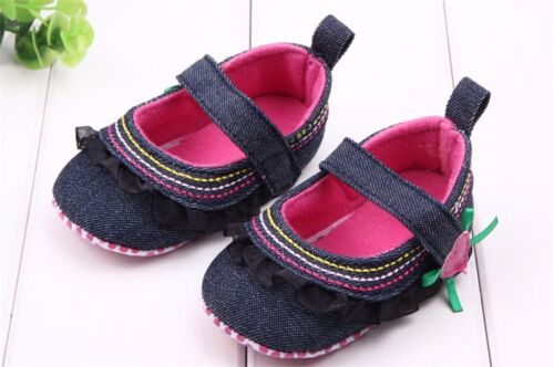 Infant Toddler Baby Boy Girl Soft Sole Pram Shoes Trainer Newborn to 18 Months 1