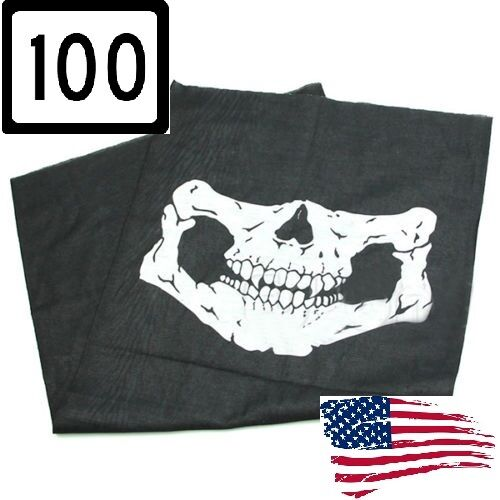 100 pcs Wholesale Ghost  Balaclava Logan Skull Face Mask Hood Biker skeleton