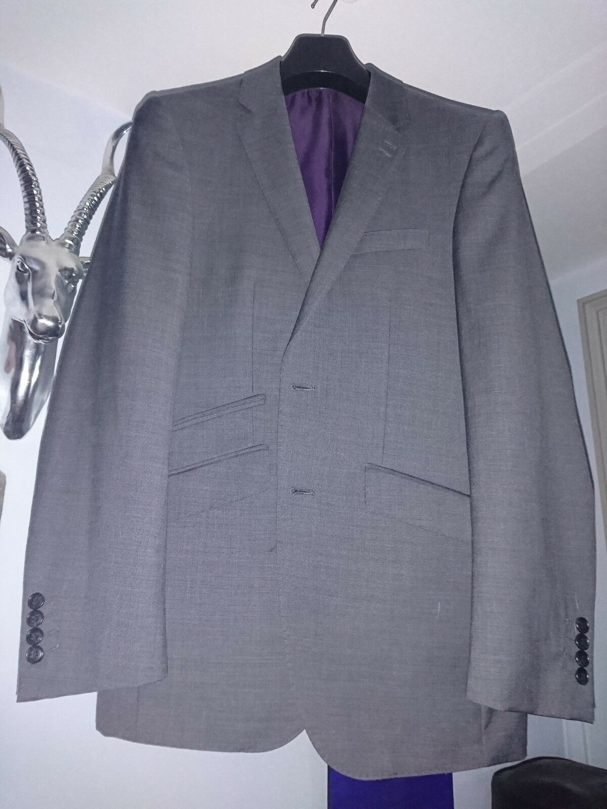 Marks & Spencer Collection Grey Suit Worn Once
