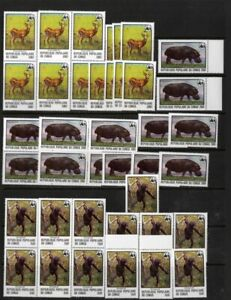 Congo-Stamps-456-8-XF-OG-NH-15-Sets-Of-High-Values-WWF