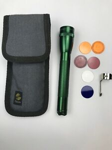 Maglite-Mini-AA-GREEN-with-Sheath-Many-Extras-Sheath-Lenses-Clip