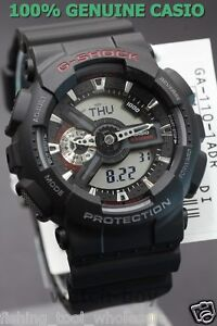 3d737019e77 GA-110-1A Black Casio Watches G-Shock 200M Analog Digital X-Large ...
