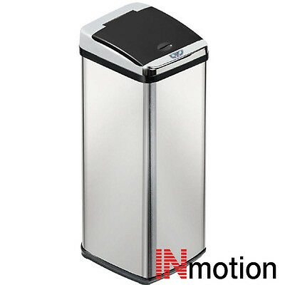 Inmotion 58L Stainless Steel Auto Sensor Kitchen Waste Dust Bin