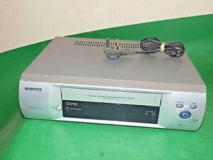 Cassette-De-Video-Grabadora-Daewoo-ST220PI-cinta-VHS-VCR-Plata-Defectuoso-Repuestos