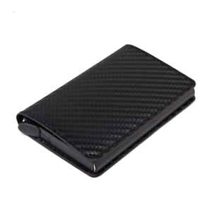 Portable-Leather-PU-Credit-Card-Holder-Money-Cash-Wallet-Clip-RFID-CARBON-A35