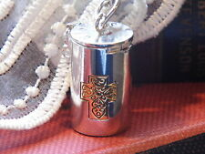 CREMATION URN  MESSAGE PRAYER WISH BOX LOCKET MEMORY GOLD SLVR Necklace WEDDING