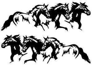 Running Wild Horses Vinyl Decal Horse Trailer Truck  EBay -  horse graphics for trucks