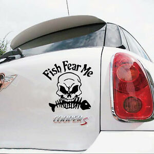 Fish fear me For Auto Car Stickers Truck Decal Graphics