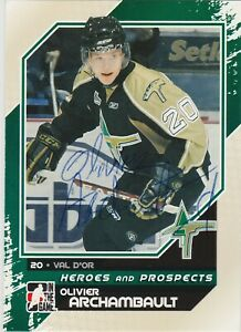Olivier-Archambault-2010-2011-Foreurs-Val-D-039-Or-QMJHL-card-55-AUTOGRAPH