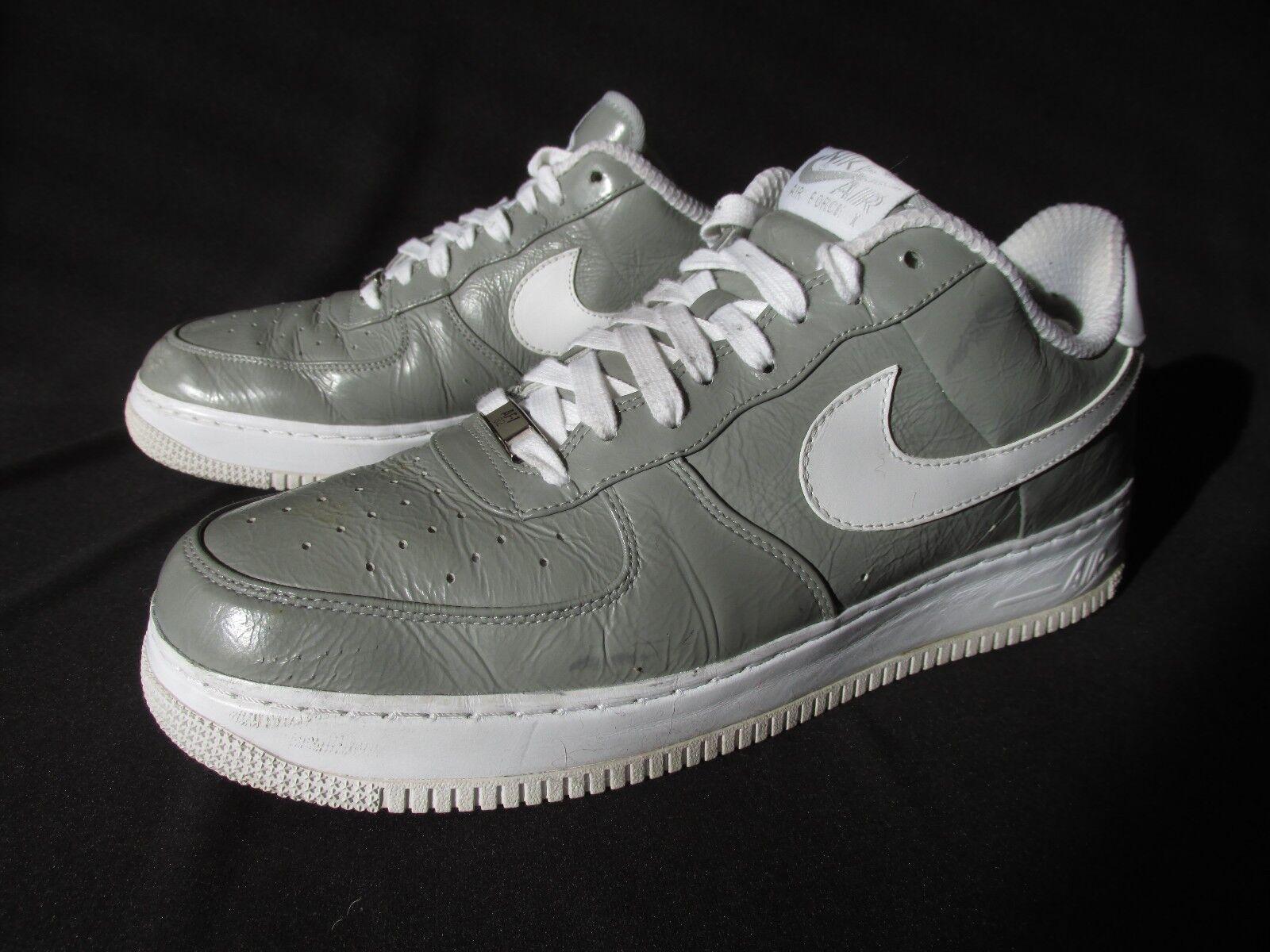 Nike 2008 air force lo slam jam di pelle grigia basso 310931-012 uomini '12 eu46