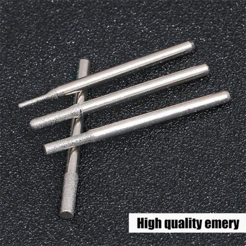 30X Diamond Rotary Burr Drill Bit Set Dremel Engraving Tools 2.3mm Shanks Kit UK