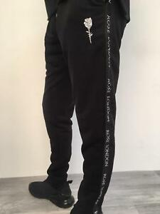 New-Mens-Rose-London-King-Tracksuit-Bottoms-Joggers-Pants-Jogging-Gym-Casual