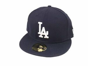Los Angeles LA Dodgers Fitted Hat New Era 59FIFTY Cap MLB Baseball ... 544ab3178b9