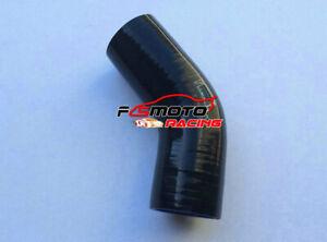 Silicone-Hose-45-degree-Bend-Elbow-2-034-51mm-Black-Intercooler-Intake-Tube-pipe