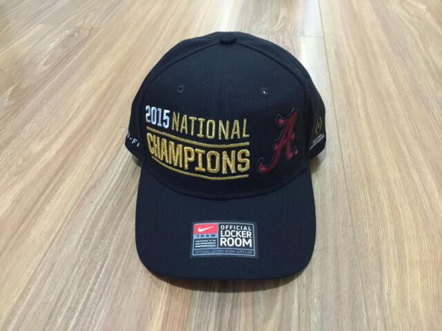 8699f55ec9b Alabama Crimson Tide 2015 National Champions Nike Locker Room One Size Cap  Hat