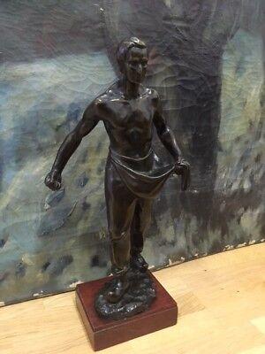Metallobjekte Amiable Antike Große Bronze Figur Statue Arbeiter Art Deco 53 Cm Höhe Fine Quality Antike Originale Vor 1945